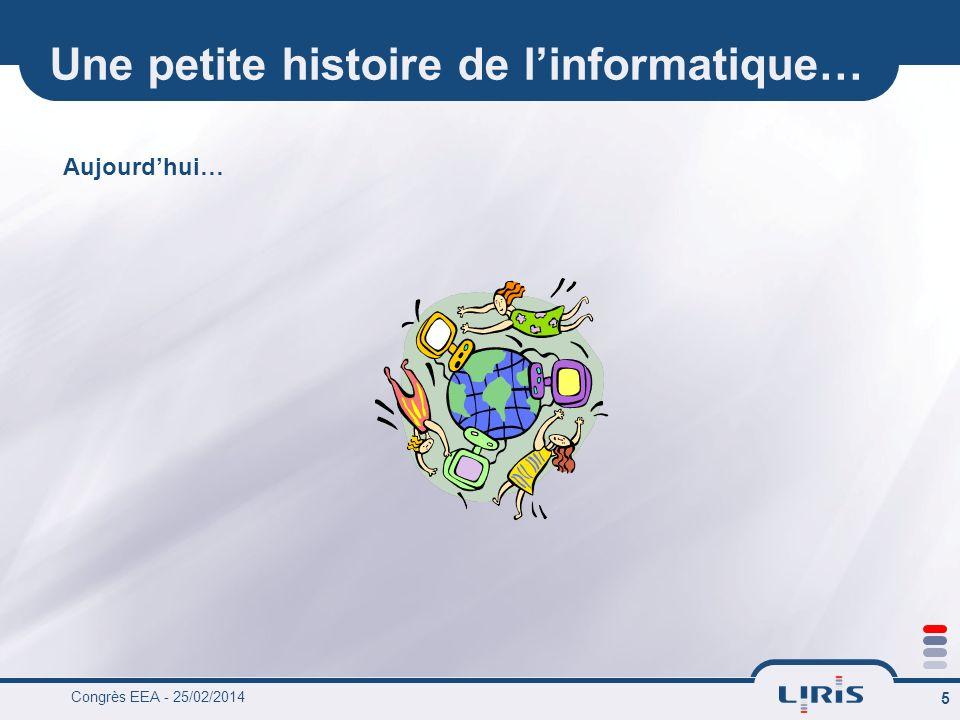 Congrès EEA - 25/02/2014 6 Une petite histoire de linformatique… Demain ?
