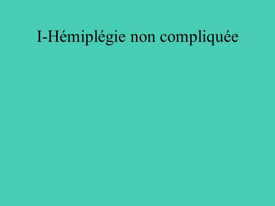 I-Hémiplégie non compliquée