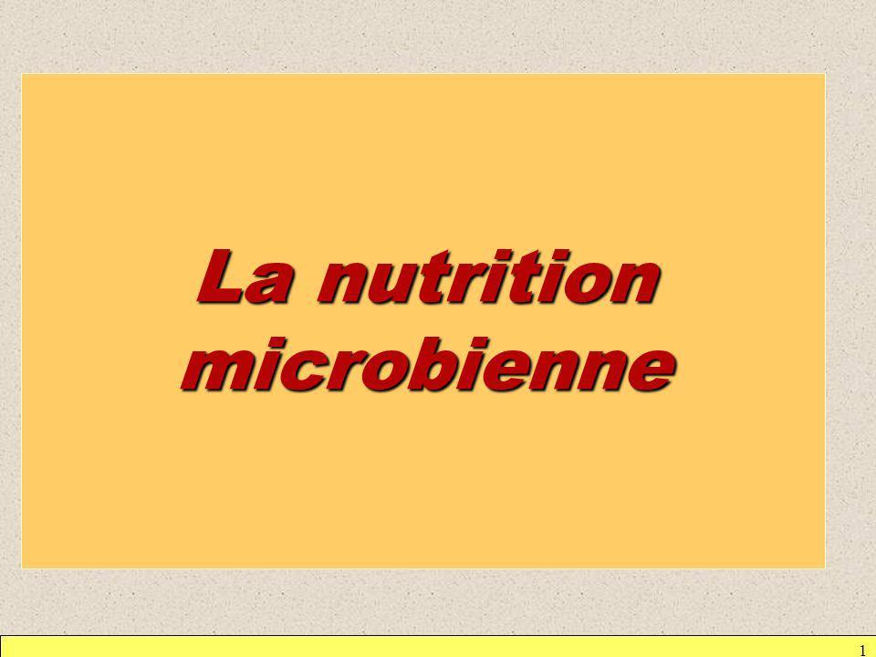 1 La nutrition microbienne