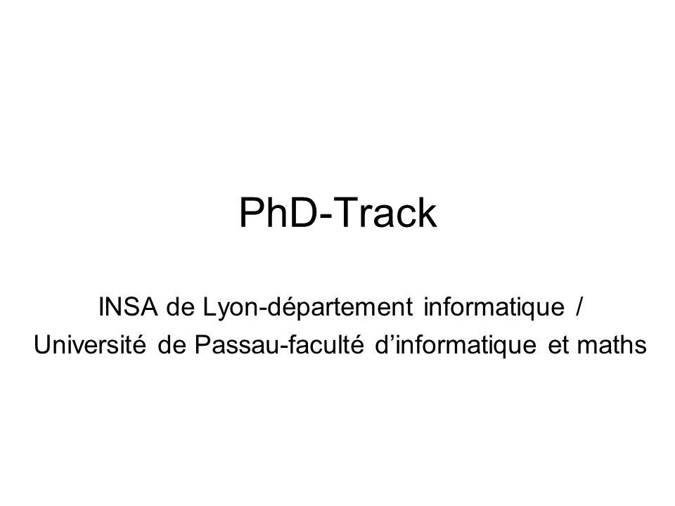 PhD-Track INSA de Lyon-département informatique / Université de Passau-faculté dinformatique et maths