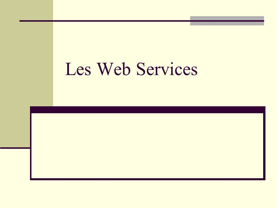 Les Web Services