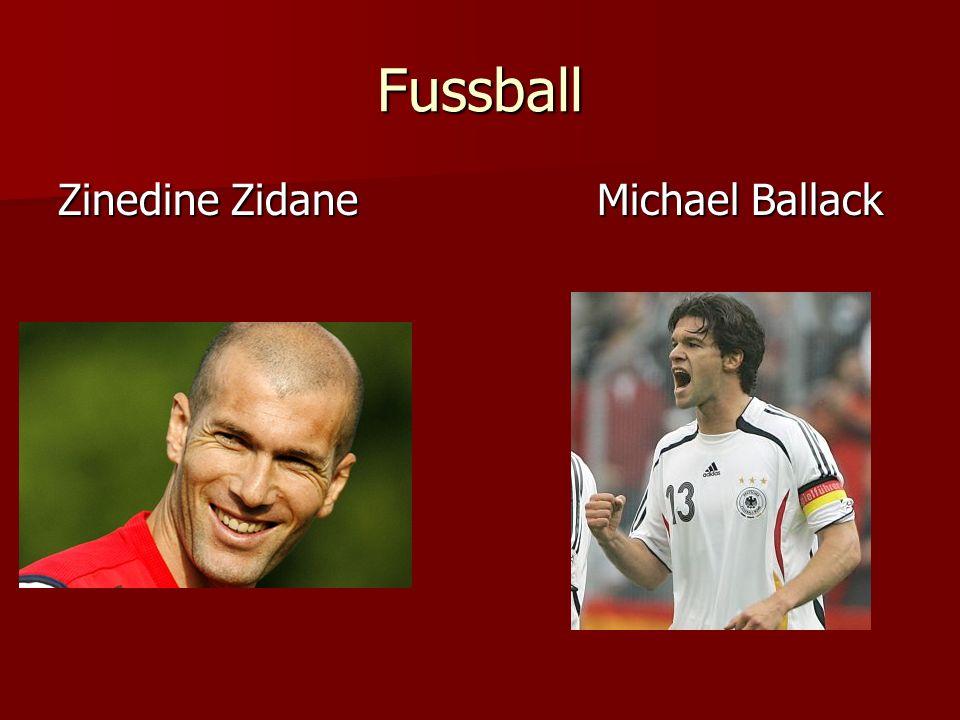 Fussball Zinedine Zidane Michael Ballack