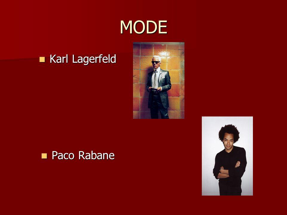 MODE Karl Lagerfeld Karl Lagerfeld Paco Rabane Paco Rabane