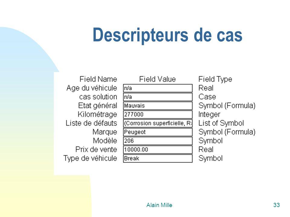 Alain Mille33 Descripteurs de cas