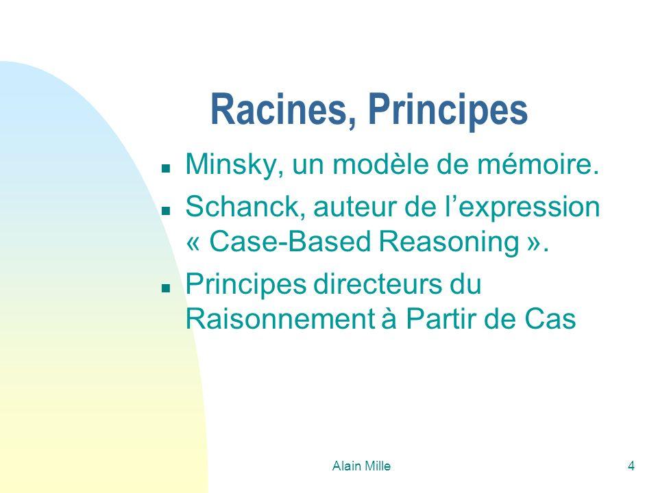 Alain Mille65 Exemple / configuration Nouveau cas - Jeux = 0; - Musique = 10; - TdT = 5; - Prog = 5; (Puissance = 10) Cas retrouvé - Jeux = 10; - Musique = 0; - TdT = 5; - Prog = 5; (Puissance = 10) CD-Rom Sony 14X Carte ASUS-3 Processeur pentium 250 Carte graphique Matrox G2 Joystick JK600 Solution Carte ASUS-3 Processeur pentium 250 Carte graphique S3 Solution