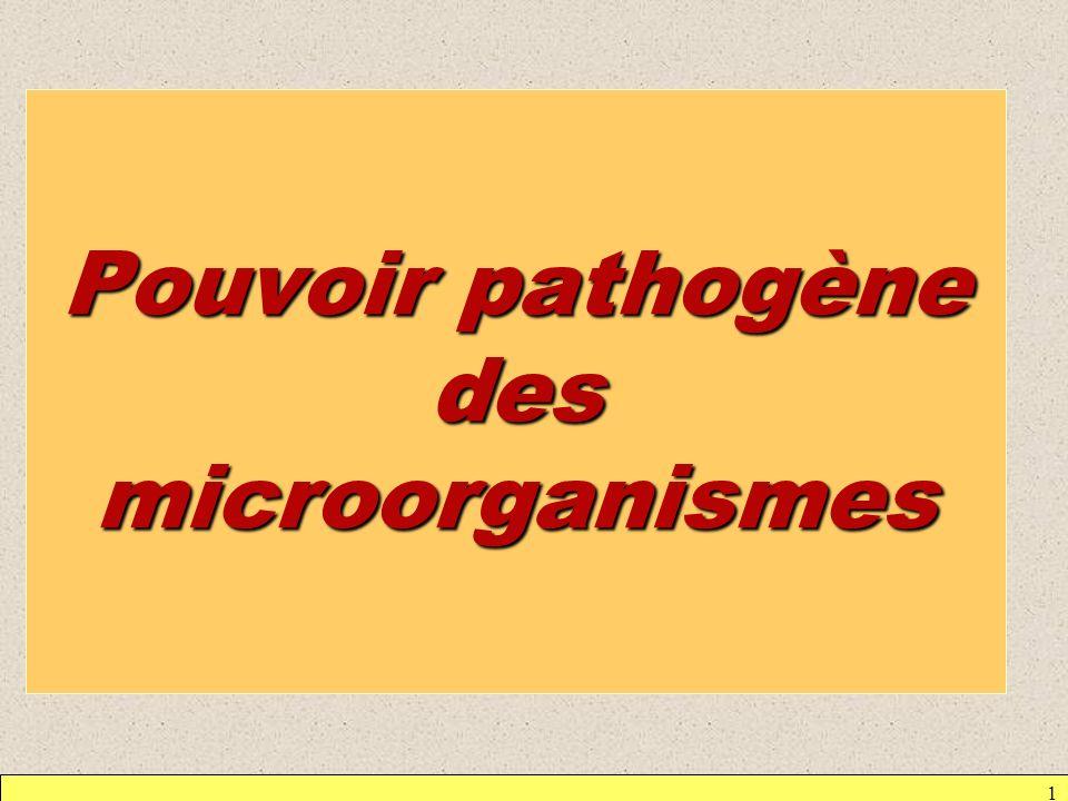 1 Pouvoir pathogène des microorganismes