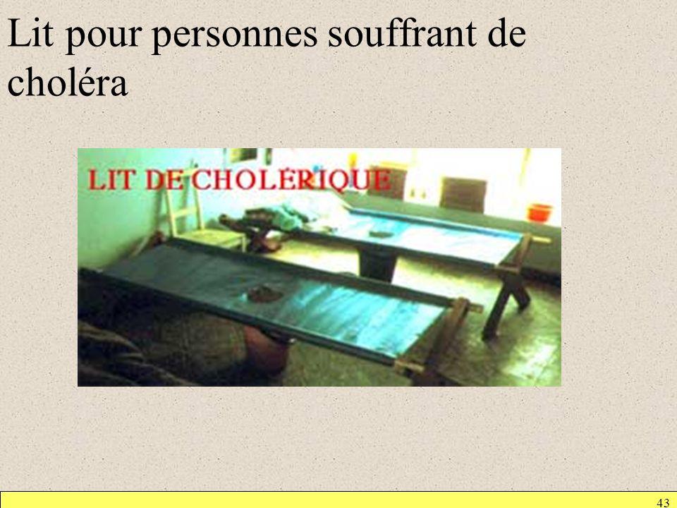 Lit pour personnes souffrant de choléra 43