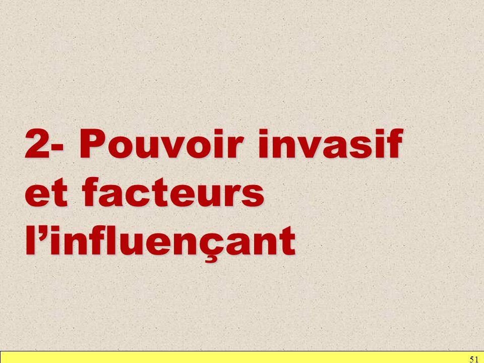 51 2- Pouvoir invasif et facteurs linfluençant
