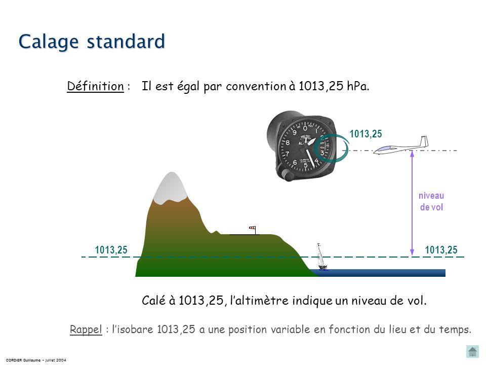 QFE cest la valeur, mesurée, de la pression atmosphérique régnant sur un aérodrome. Définition : QFE hauteur QFE Il sexprime en hPa. Calé au QFE, lalt