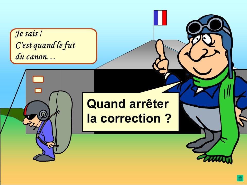 Le planeur est trop haut La correction consiste : 1. À sortir les AF (à fond) ; 2. À maintenir V.O.A. Le planeur adoptera le plan … avec lequel il int