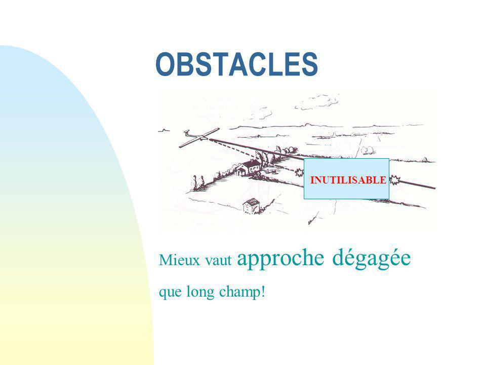 bien choisir un champs : Les ingrédients Inutile de se noyer dans un verre d eau V ent Etat de surface Relief Dimensions Obstacles