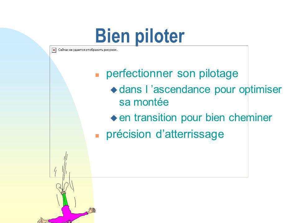 Bien piloter n perfectionner son pilotage u dans l ascendance pour optimiser sa montée u en transition pour bien cheminer