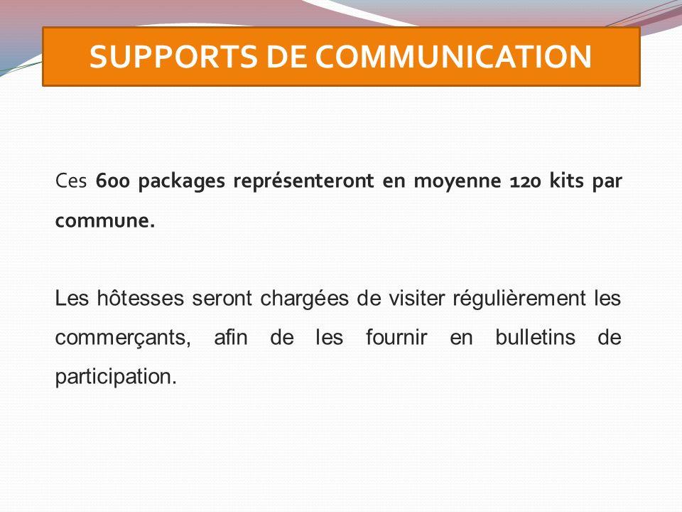 Ces 600 packages représenteront en moyenne 120 kits par commune. Les hôtesses seront chargées de visiter régulièrement les commerçants, afin de les fo