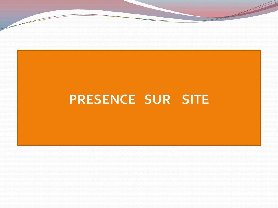 PRESENCE SUR SITE