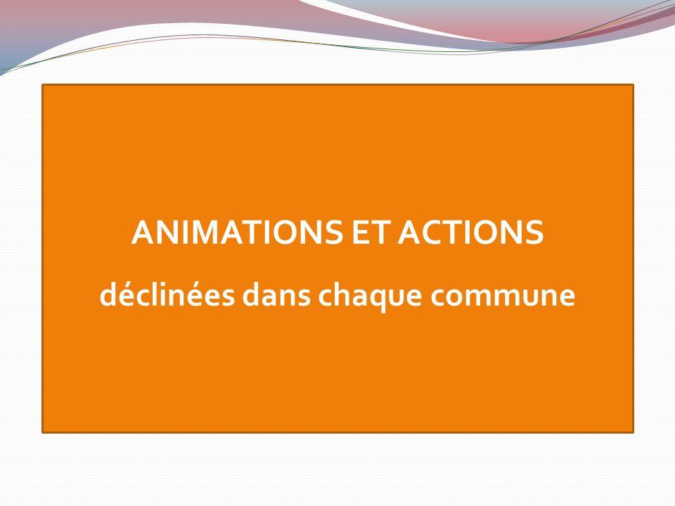 ANIMATIONS ET ACTIONS déclinées dans chaque commune