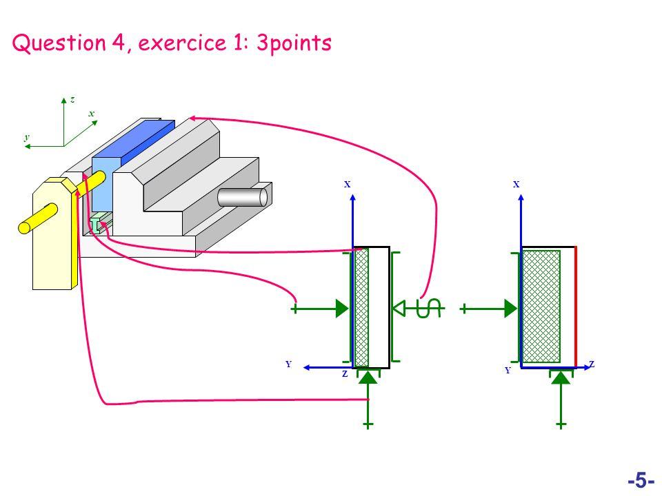 -6- Question 4, exercice 2: 3points x y z Z Y X Z X Y