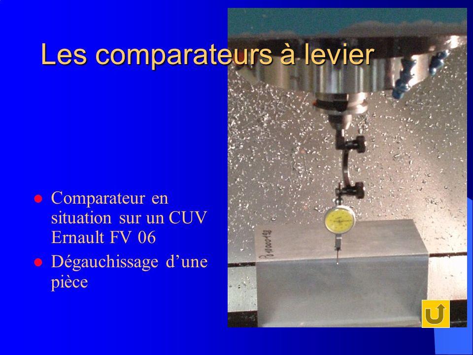 Les comparateurs à levier Comparateur en situation sur un CUV Ernault FV 06 Dégauchissage dune pièce