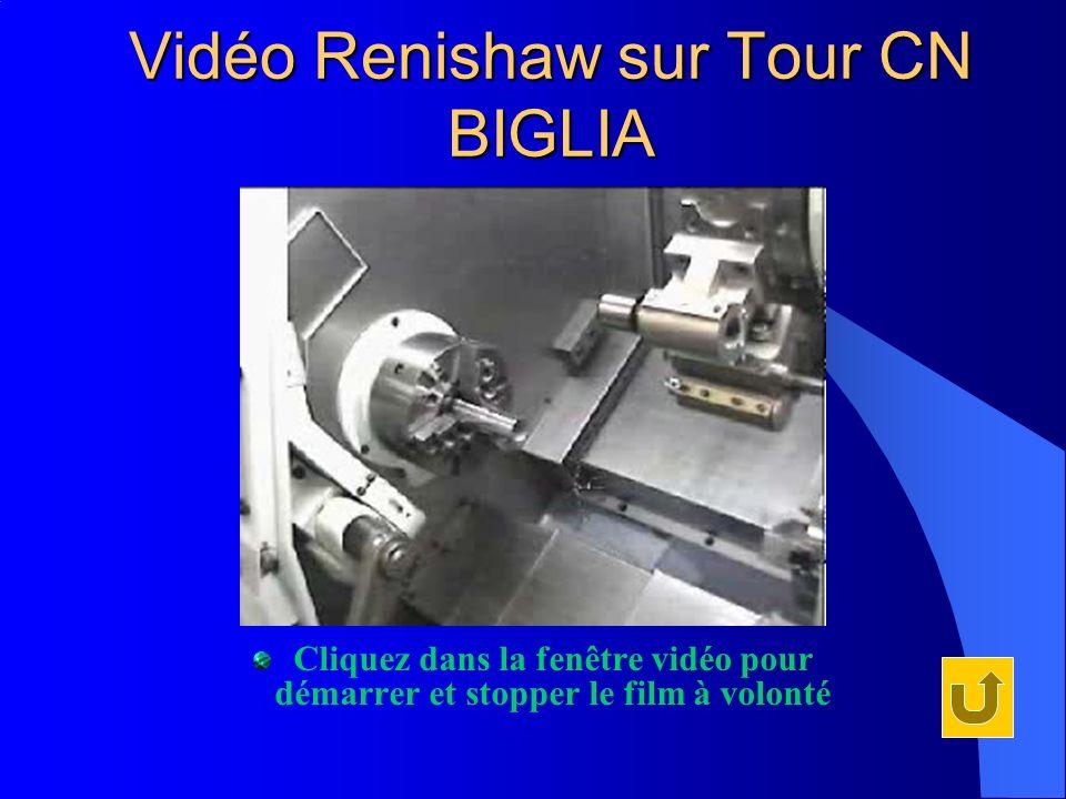 Vidéo Renishaw sur Tour CN BIGLIA Cliquez dans la fenêtre vidéo pour démarrer et stopper le film à volonté