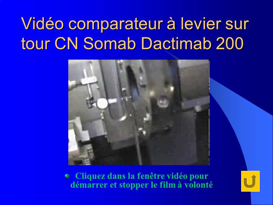 Vidéo comparateur à levier sur tour CN Somab Dactimab 200 Cliquez dans la fenêtre vidéo pour démarrer et stopper le film à volonté