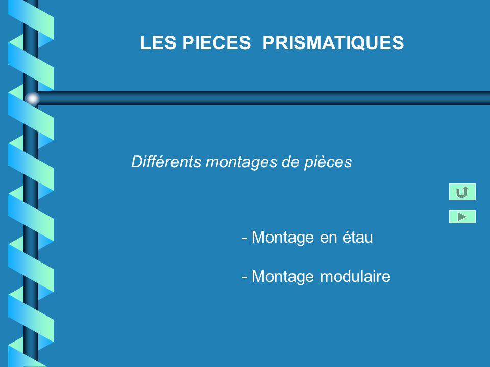 LES PIECES PRISMATIQUES Différents montages de pièces - Montage en étau - Montage modulaire