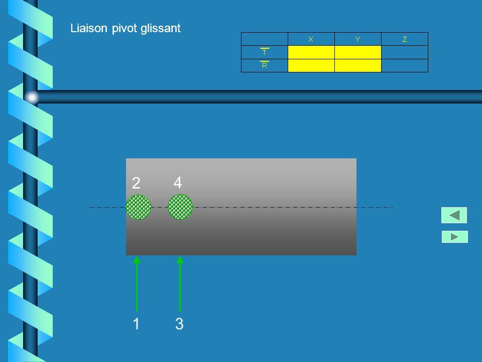 Liaison appui plan + liaison linéaire rectiligne 123 4 5