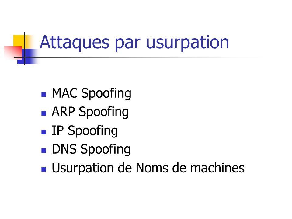 Solutions de défense Quelques outils La commande ARP de windows ou Linux permet de réaliser des entrées statiques.