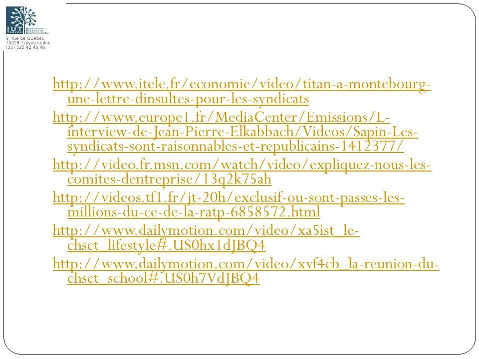 135 http://www.itele.fr/economie/video/titan-a-montebourg- une-lettre-dinsultes-pour-les-syndicats http://www.europe1.fr/MediaCenter/Emissions/L- inte