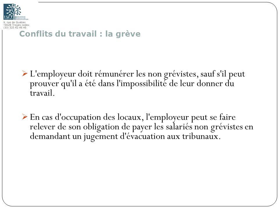 196 L'employeur doit rémunérer les non grévistes, sauf s'il peut prouver qu'il a été dans l'impossibilité de leur donner du travail. En cas d'occupati