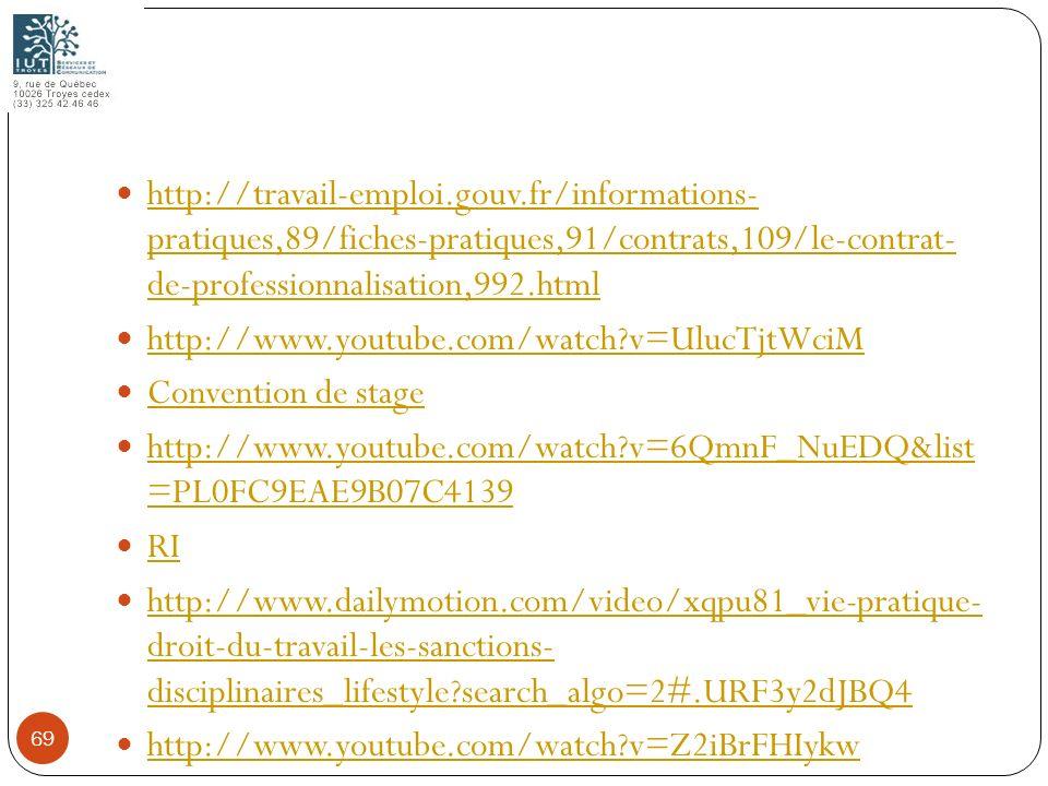 http://travail-emploi.gouv.fr/informations- pratiques,89/fiches-pratiques,91/contrats,109/le-contrat- de-professionnalisation,992.html http://travail-