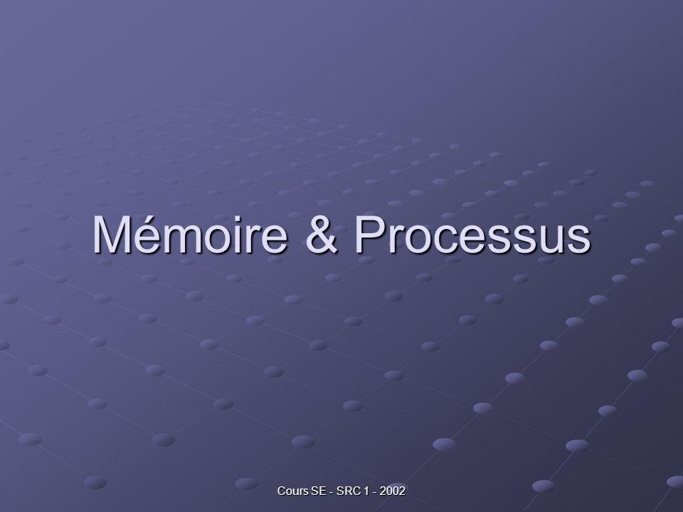 Cours SE - SRC 1 - 2002 Mémoire & Processus