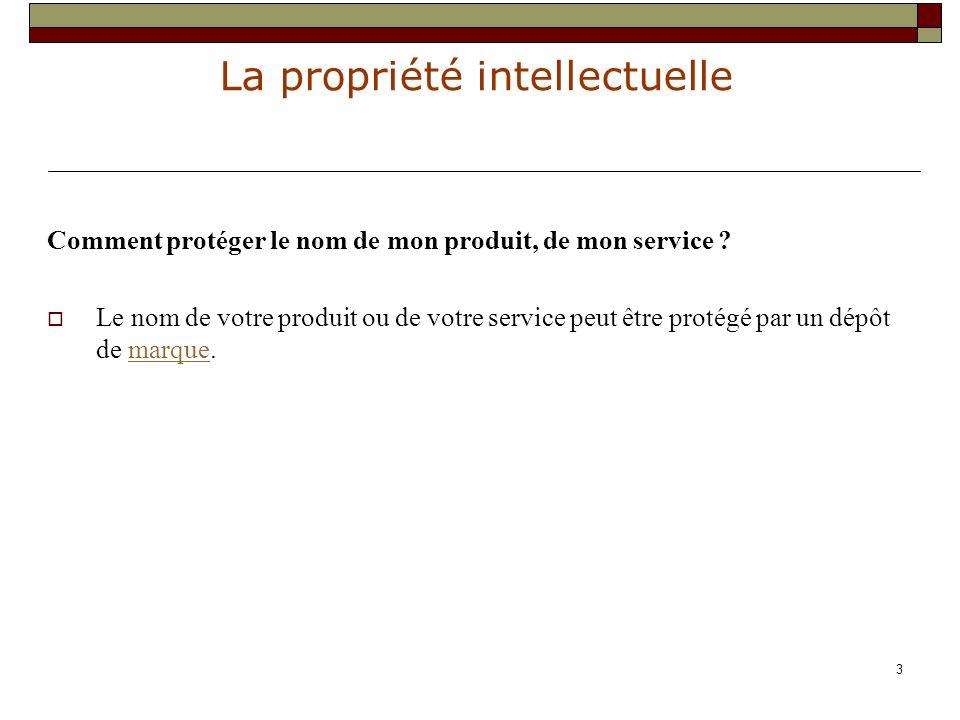 La propriété intellectuelle 24 III : les autorisations à demander Elles dépendent de l utilisation envisagée.