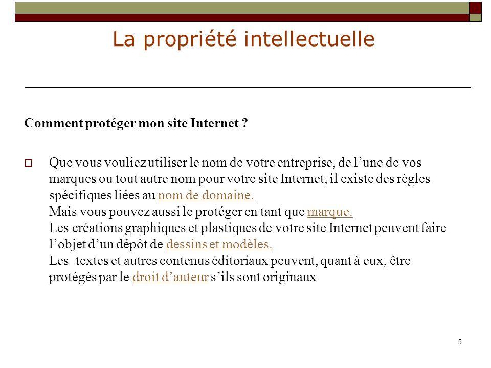 La propriété intellectuelle 16 B : qu est ce qu une œuvre .