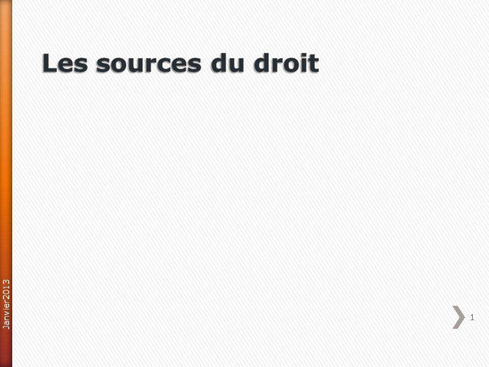 Traités Europe Économique et Monétaire Constitution Européenne Directive Européenne 32 II : les sources du droit international Janvier2013