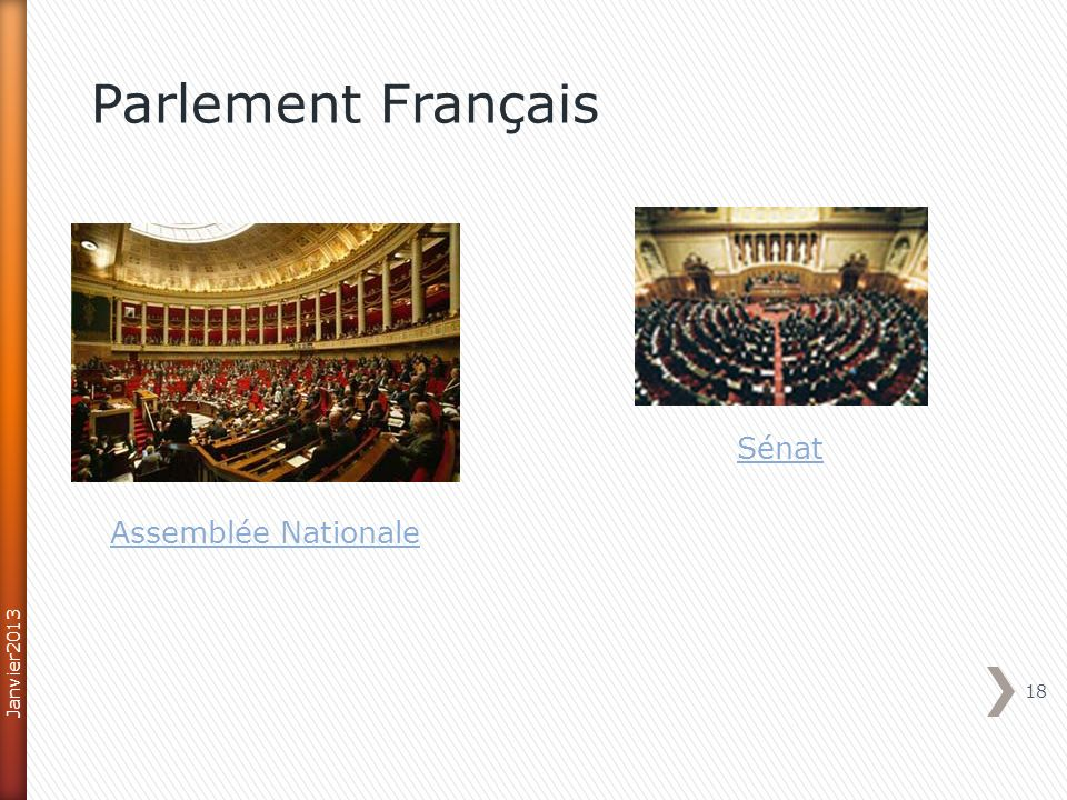18 Parlement Français Assemblée Nationale Sénat Janvier2013