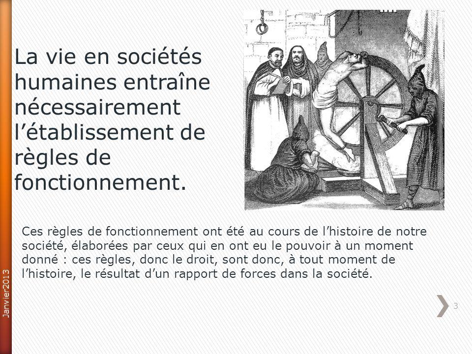 14 Les lois La jurisprudence La doctrineLa coutume + Ordres juridiques externes Les traités internationaux Janvier2013