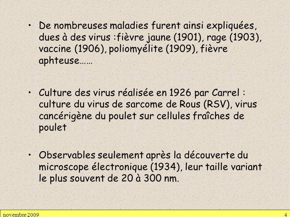 De nombreuses maladies furent ainsi expliquées, dues à des virus :fièvre jaune (1901), rage (1903), vaccine (1906), poliomyélite (1909), fièvre aphteu
