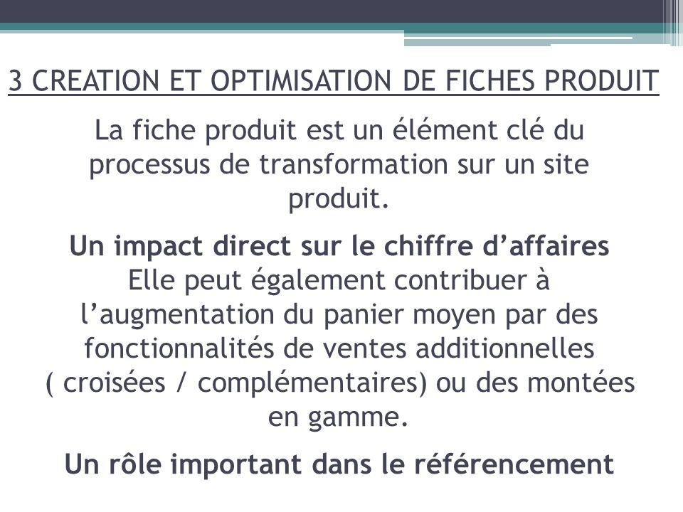 La fiche produit est un élément clé du processus de transformation sur un site produit. Un impact direct sur le chiffre daffaires Elle peut également