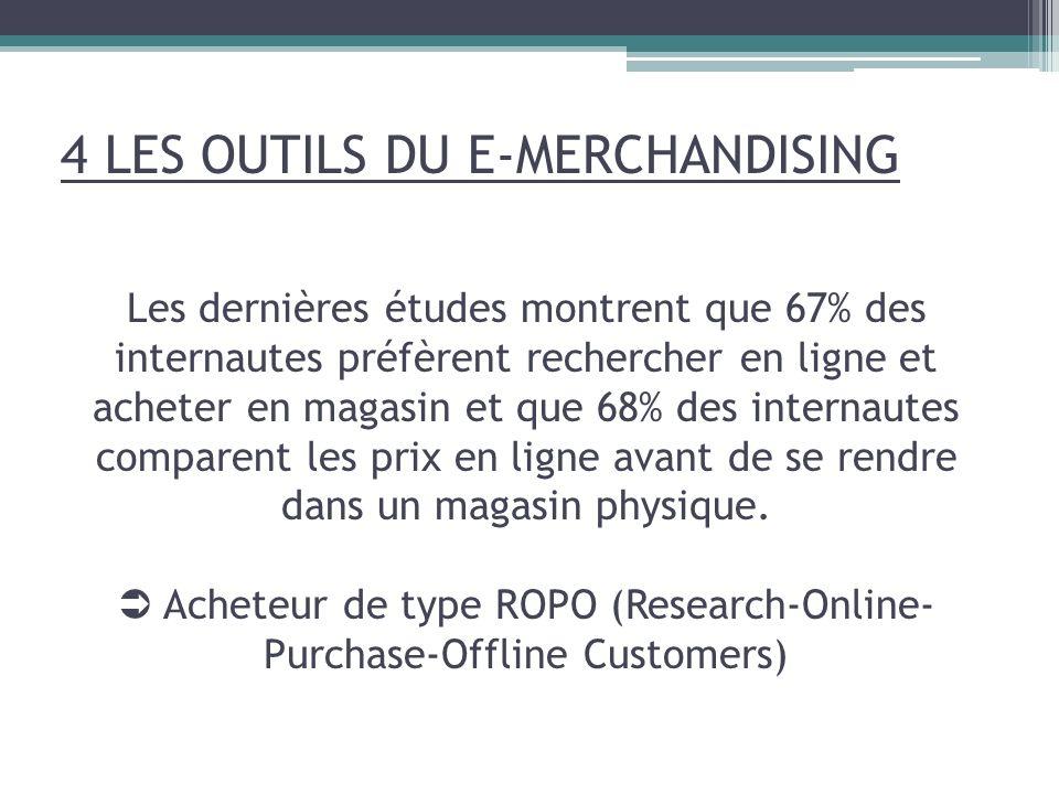 Les dernières études montrent que 67% des internautes préfèrent rechercher en ligne et acheter en magasin et que 68% des internautes comparent les pri