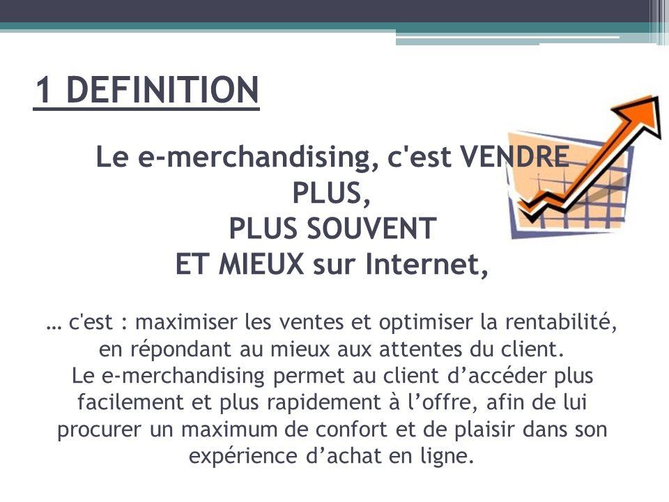 Le e-merchandising, c'est VENDRE PLUS, PLUS SOUVENT ET MIEUX sur Internet, … c'est : maximiser les ventes et optimiser la rentabilité, en répondant au