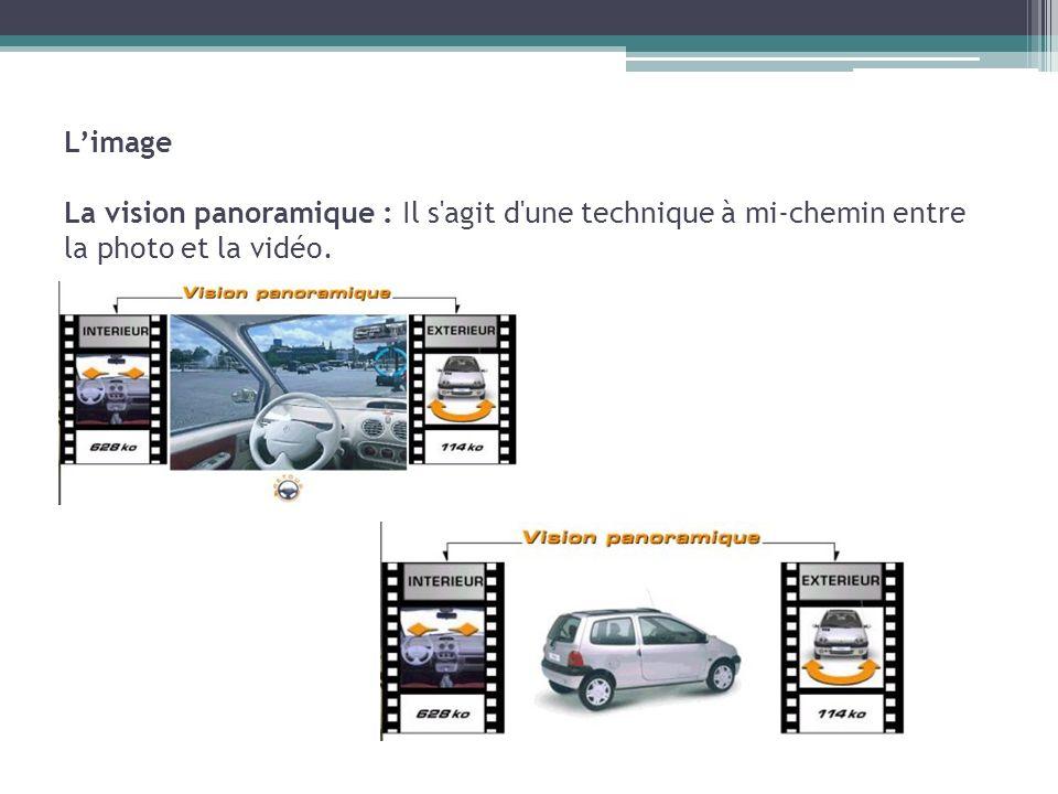 Limage La vision panoramique : Il s'agit d'une technique à mi-chemin entre la photo et la vidéo.