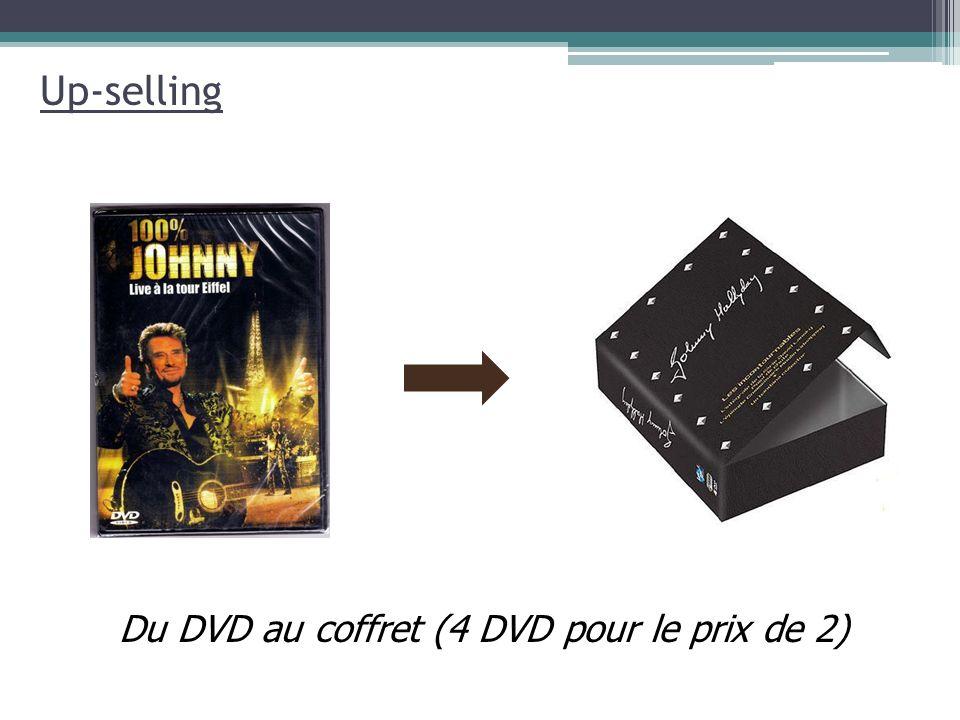 Up-selling Du DVD au coffret (4 DVD pour le prix de 2)