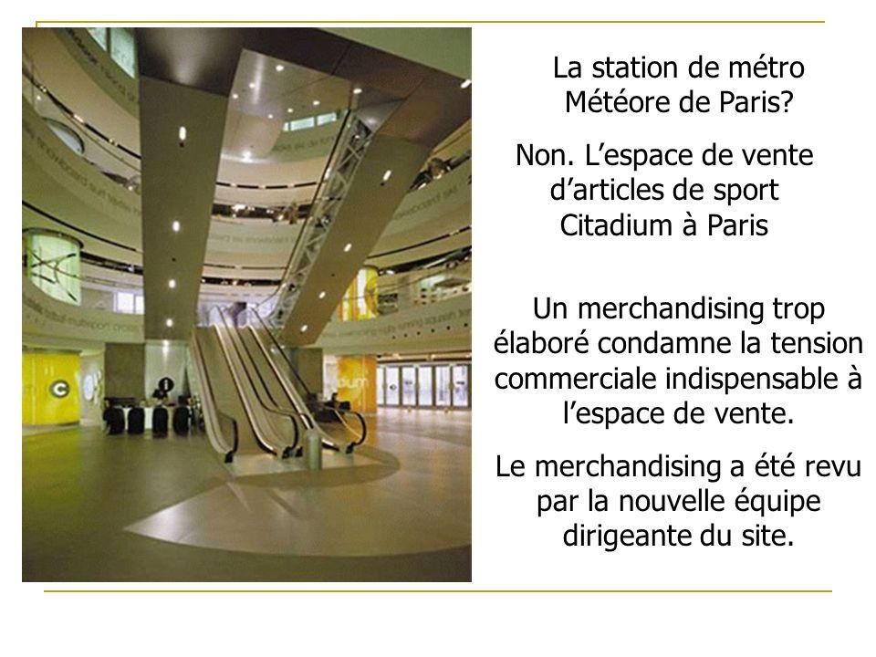 La station de métro Météore de Paris.Non.