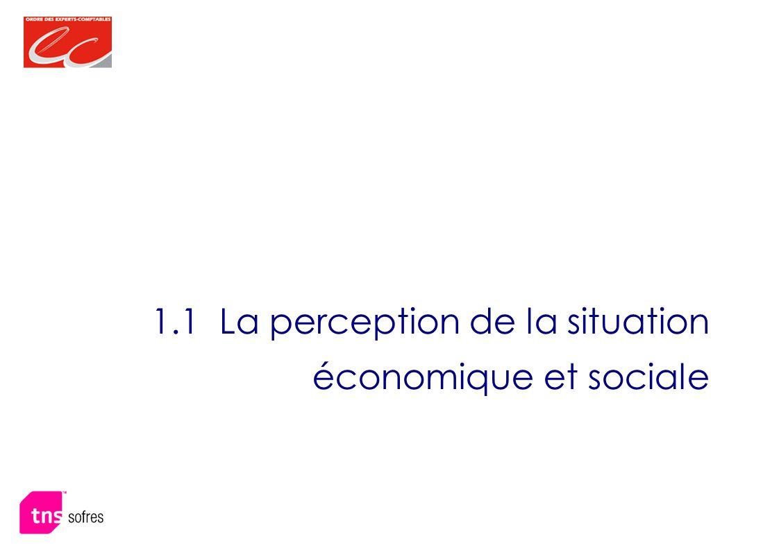 1.1 La perception de la situation économique et sociale