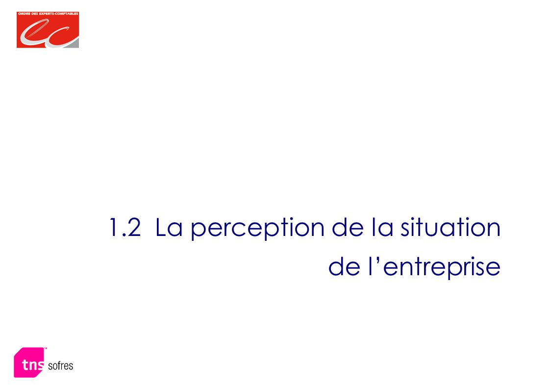 1.2 La perception de la situation de lentreprise