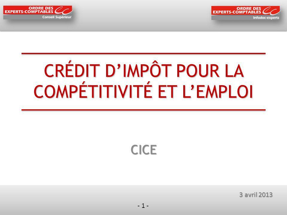 - 12 - Comptabilisation du CICE Comment comptabilise-t-on le CICE .