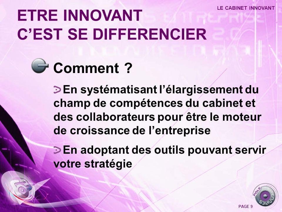 LA DEMONSTRATION LE CABINET INNOVANT PAGE 20 C L I E N T S C A B I N E T 1.