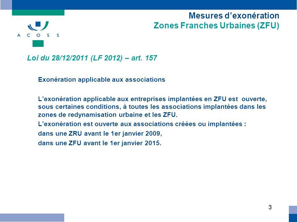 4 Mesures dexonération Jeunes entreprises innovantes Loi du 28/12/2011 (LF rectificative pour 2011) – art.