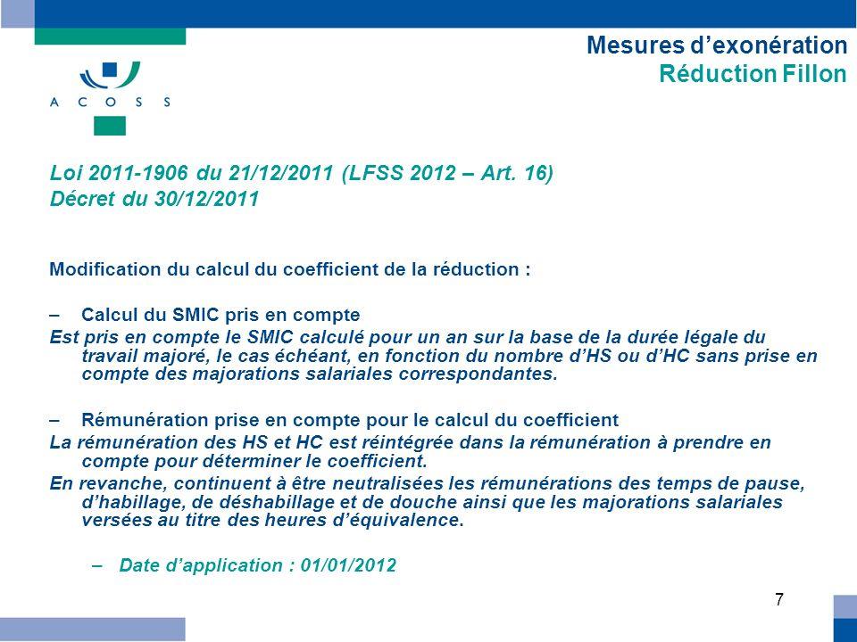 8 Vie sociale des entreprises Extension du champ du rescrit social Loi du 22/03/2012 (Loi Warsmann) – art.