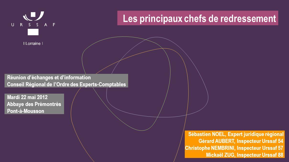 Réunion déchanges et dinformation Conseil Régional de lOrdre des Experts-Comptables Mardi 22 mai 2012 Abbaye des Prémontrés Pont-à-Mousson Sébastien N