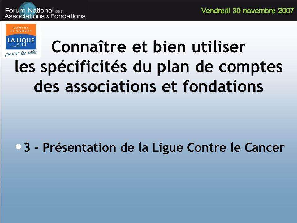 Connaître et bien utiliser les spécificités du plan de comptes des associations et fondations 3 – Présentation de la Ligue Contre le Cancer
